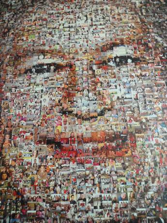 Regina Elisabetta II Londra ritratto aeroporto Stansted fotografie collage Inghilterra
