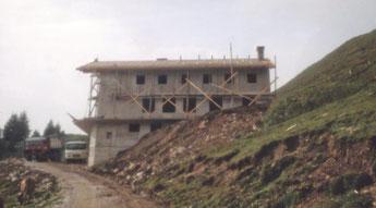 Rohbau im Sommer 1981