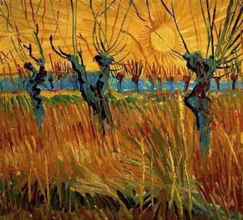 "V. Van Gogh, ""Salici al tramonto"""