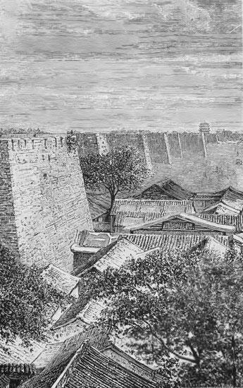 Les murailles de Pékin.