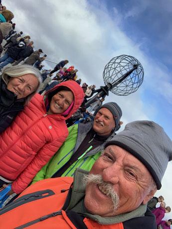 Am Nordkapp, Norwegen 15.7.2019 / wir waren nicht die einzigen.