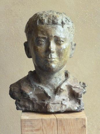 jongensportret, brons