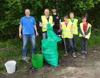 Ergebnis der NABU-Müllsammlung in Plaußig. Foto: NABU Plaußig-Portitz