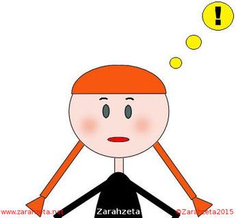Zarahzetas Denkanstöße mit Emoticon Ausrufezeichen
