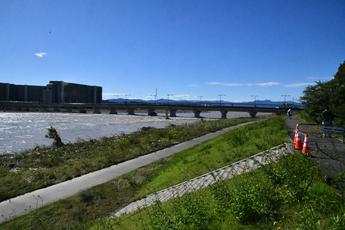 写真7 10月13日13:28 日野橋付近(大里重人氏撮影)