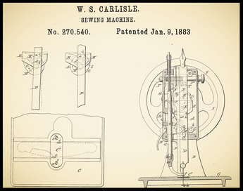 US Patent 270.540 ............................... January 9, 1883
