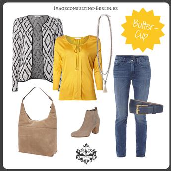 Outfit für den Frühlingstypen oder einen blonden Sommer