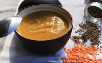 Soupe de lentilles corail, potiron & cumin