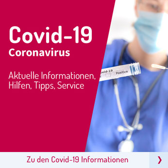 Button zur Unterseite Covid-19 Coronavirus