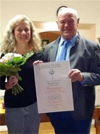 Goldene  Stimmgabel -Monika Oser -Thalia Chor Schweinfurt -2019