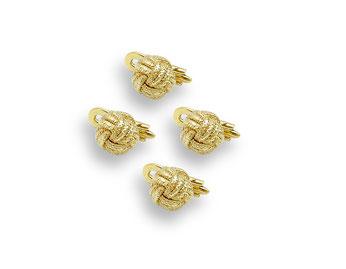 goldene Smokingknöpfe Knoten