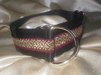 Zugstopp, Halsband, 4cm, Gurtband schwarz, Borte, Goldvlies
