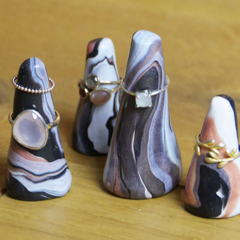 Schmuckschale und Ringhalter aus FIMO DIY blog omniview