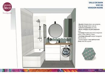 Plan 3D, Sketchup, Plan Appartement en 3D, conseil déco, projet déco, coaching déco, décoration d'intérieur, décoratrice d'intérieur Boulogne-Billancourt, pièce de vie, salon, salle à manger,