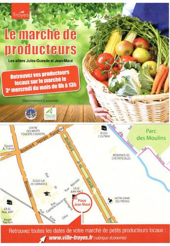 Marché mensuel de produits locaux de l'Aube à Troyes. retrouvez-y notre quinoa Grains de nature !