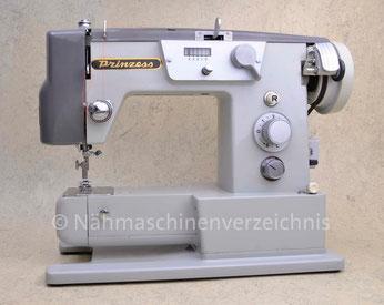 Prinzess Freiarm, Automatik mit Schablonen, Hergestellt in Japan, Prinzess-Nähmaschinen-Vertrieb: Hüpeden & Co., Hamburg (Bilder: Nähmaschinenverzeichnis)