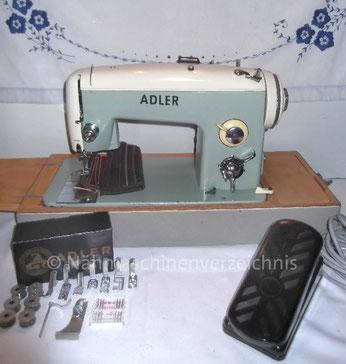Adler 453, Zickzack-Flachtbett-Nähmaschine, Hersteller: Kochs Adler Nähmaschinenwerke AG Bielefeld (Bilder: T. Wildt Nähmaschinenoase)