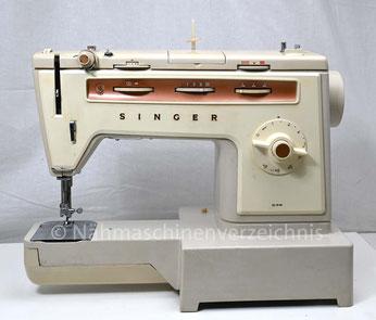 Singer Kl. 538, Automatic mit Schablonen, Freiarm-Koffer-Nähmaschine mit Unterbaumotor, Hersteller: Singer Nähmaschinen Aktiengesellschaft, Großbritannien, SN: 63164867 (Bilder: Nähmaschinenverzeichnis)