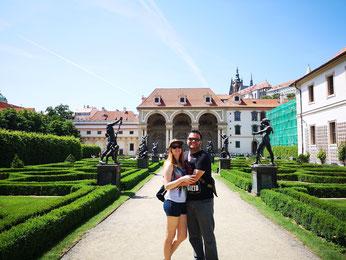 Visitando Praga, en la República Checa.