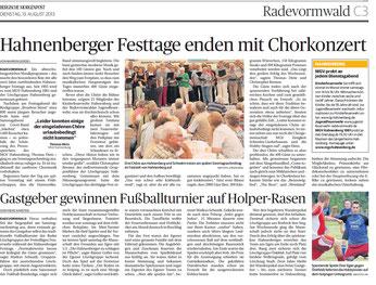Bergische Morgenpost 13.08.2013