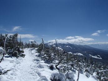 縞枯山 雪山入門 登山 ガイド