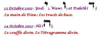 La main de Dieu (les tracés de base de la calligraphie) / Le souffle divin : Le Tétragramme sacré