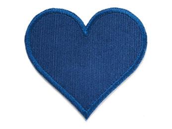Cord Flicken Hosenflicken Applikation Herz dunkelblau Knieflicken zum aufbügeln für Mädchen