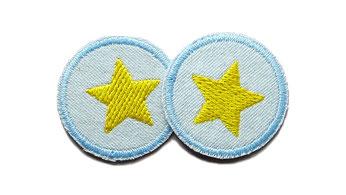 Bild: Jeansflicken Hosenflicken Stern gelb Patch zum aufbügeln Accessoire