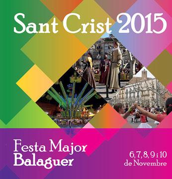 Festes del Sant Crist en Balaguer 2015 Programa y Cartel