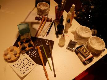 Wichtelgeschenk für Frauen und für Männer: Die WeihnachMein schönes Kalligraphiematerial aus dem Kalligraphieshop schriftundkunst....tskugel mit Namen