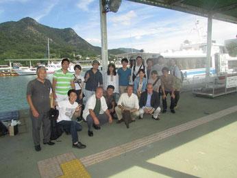 2015年9月:顧問の方々も一緒に小豆島旅行。
