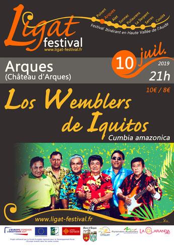 LIGAT Festival, Los Wemblers de Iquitos, concert, château d'Arques