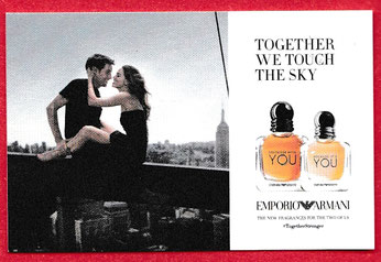 2017 - EMPORIO ARMANI - PETITE CARTE TOGETHER WE TOUCH THE SKY