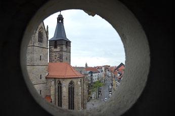 Blick auf die Kaufmannskirche (Erfurt)