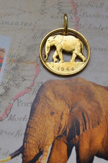Münzsagewerk Katrin Thull | Belgisch Kongo - Elefant rund