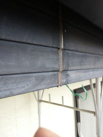 幕板のコーキング打替え。熊本K様家の外壁塗装時。