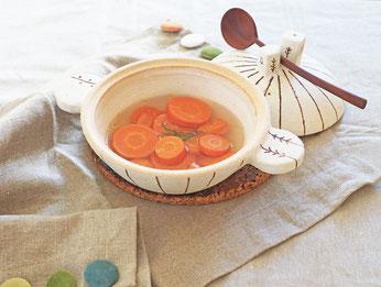 「にんじんスープ」スープ・レッスン(著 有賀薫より)/Cocciorino土鍋