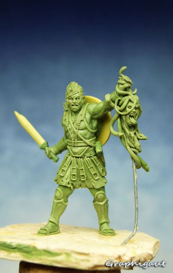 Mythic Battles: Pantheon, Persée, Monolith Games, fimo, beesputty, 32mm, handmade sculpture