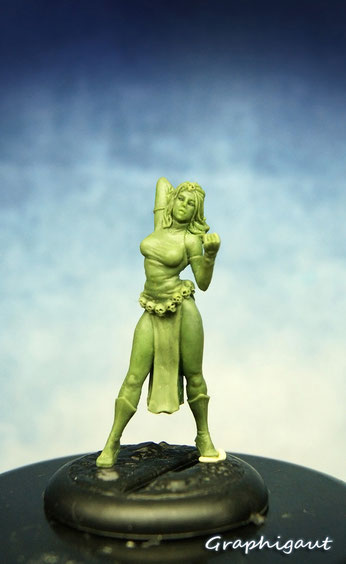 handmade sculpture, Graphigaut, figurine, Mystique, Mystic, Xmen, assassine, 35mm, Knight Models