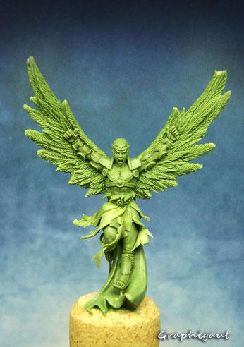Beesputty, fimo, handmade sculpture, Icare, Panthéon, Myhtic Battles, mythologie grèque, 32mm