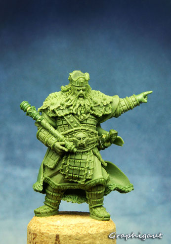 Mythic Battles: Pantheon, Agamemnon, Monolith Games, fimo, beesputty, 32mm, handmade sculpture