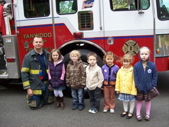 FF Germinder with children from Westminster Preschool
