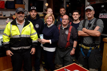 Members of FFD with Mayor Mahr at the Fanwood Grille Volunteer Appreciation Dinner