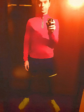 Selfie from #sportspunk wearing Kossmann Laufdesign sportswear