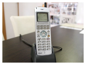新潟市の漢方薬専門店「西山薬局」受付用電話機