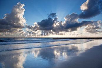 Wolkenziehen über der Nordsee, Borkum
