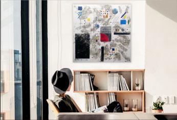 daluz galego peintre abstrait peinture abstraite abstraction