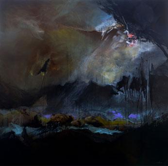 Tempête acrylique sur toile dim 150cmx150cm