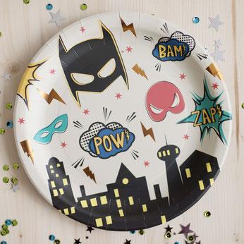 anniversaire-theme-super-heros-assiettes-super-heros