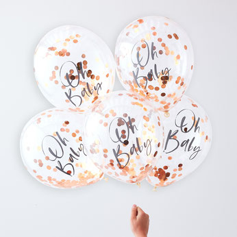5-ballons-transparents-ecriture-oh-baby-et-confettis-rose-gold-decoration-baby-shower-bapteme